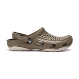 Crocs Swiftwater Deck Clog Crocs Barna Bézs