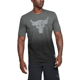 Under Armour Project Rock Bull Graphic Póló Fekete Szürke