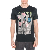Jack & Jones Art Bouquet Póló Fekete << lejárt 571862